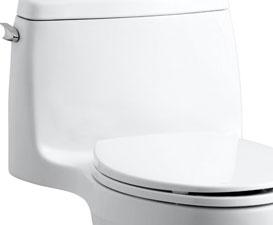 Kohler Santa Rosa >> Kohler 3810 96 Santa Rosa Comfort Height Elongated 1 28 Gpf Toilet With Aquapiston Flush Technology And Left Hand Trip Lever Biscuit