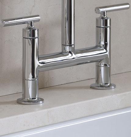 The Kohler Purist Bridge Faucet Has A High Arching Spout, A Stylish Design,  And Unique Handles (click Each To Enlarge).