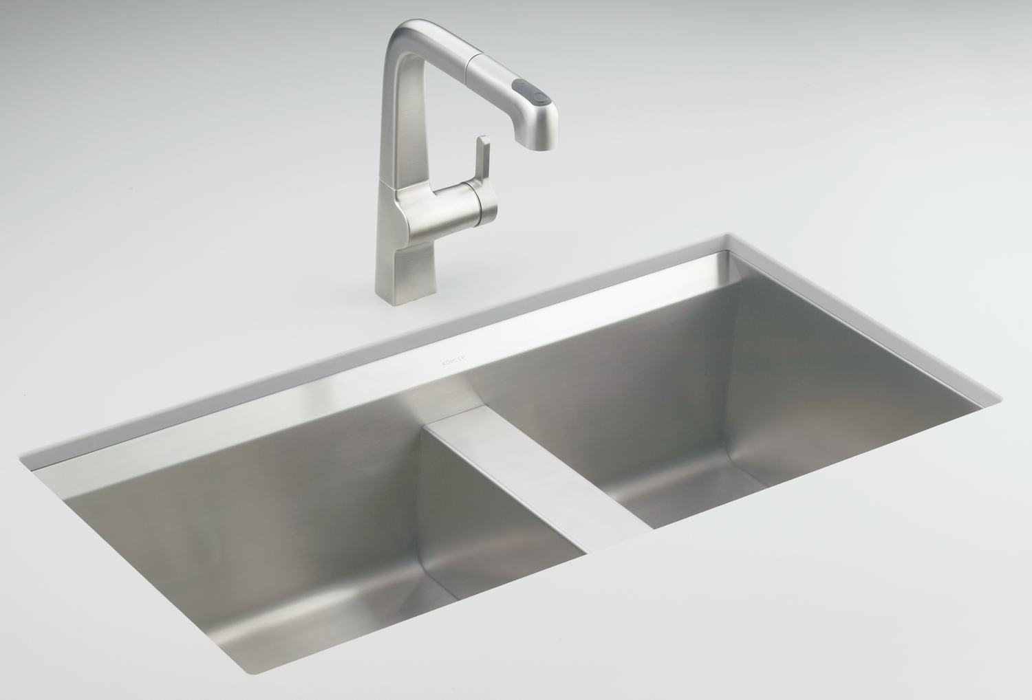 Kohler K 3672 Na 8 Degree Offset Double Basin Kitchen Sink