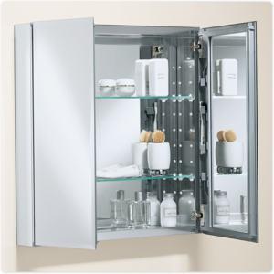 kohler k cb clc2526fs 25 by 26 by 5 inch double door aluminum cabinet