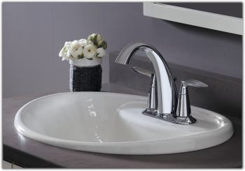 KOHLER K-45100-4-CP Alteo Centerset Lavatory Faucet, Polished ...