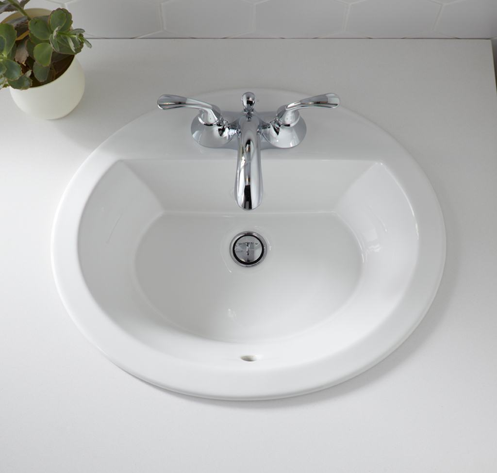 Kohler k 2699 4 0 bryant oval self rimming bathroom sink for Bath toilet and sink