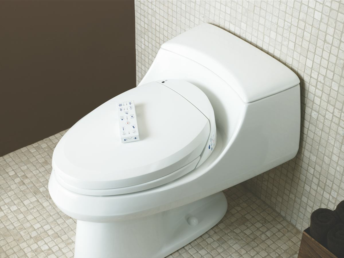 KOHLER K-4709-96 C3-200 Elongated Bidet Toilet Seat with In-Line ...