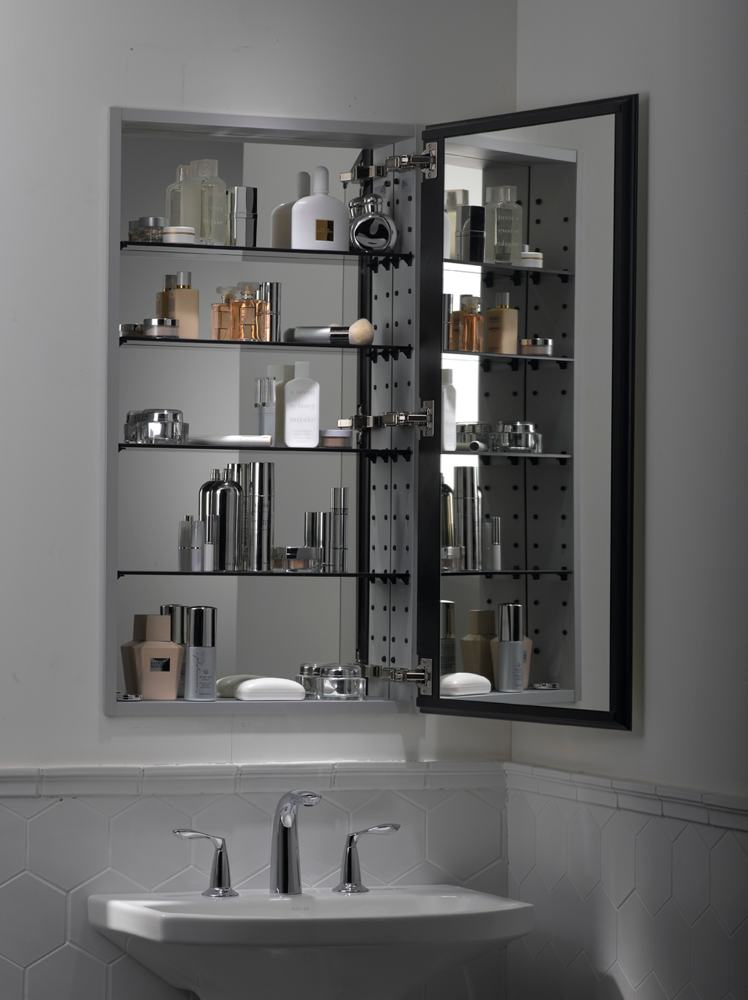 Amazon.com. Catalan. The Flexible Catalan Mirrored Bathroom Cabinet ...