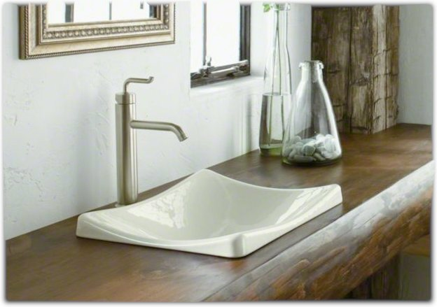 Kohler K 2833 47 Demilav Wading Pool Bathroom Sink Almond