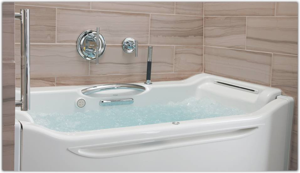 KOHLER K-1914-GR-47 Elevance BubbleMassage Rising Wall Bath with ...