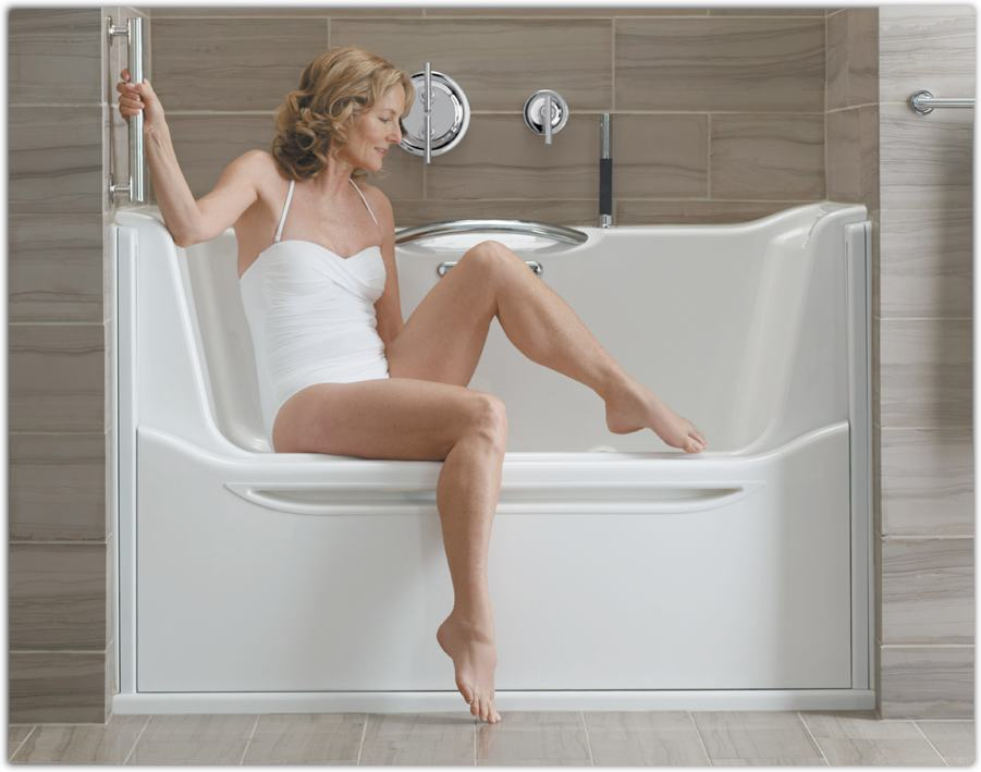 Kohler k 1914 gr 47 elevance bubblemassage rising wall for Sit down shower tub