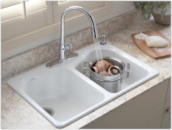 Kohler K 5818 4 0 Hartland Self Rimming Kitchen Sink With