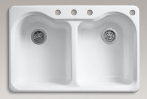 Kohler K 5818 4 0 Hartland Self Rimming Kitchen Sink With