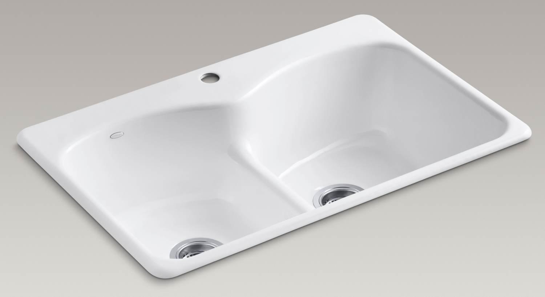 Kohleru0027s Smart Divide Low Profile Basin Divider Offers Ease Of Handling  Large Items Within The Sink (white Version Shown; ...