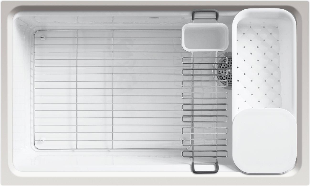 Utility Sink Accessories : ... Riverby Single Bowl Undermount Kitchen Sink, White - - Amazon.com