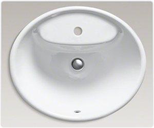 KOHLER K-2839-1-0 Tides Bathroom Sink, White - Vessel