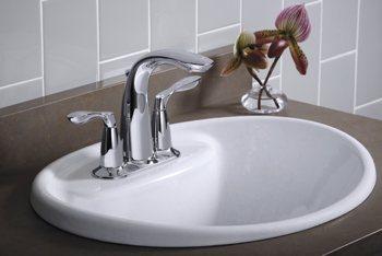 KOHLER K-2839-4-0 Tides Bathroom Sink, White - Bathroom Sinks ...