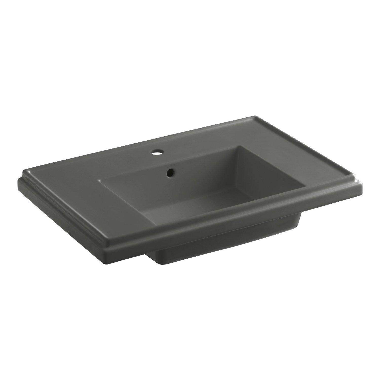KOHLER K-2758-1-7 Tresham 30-Inch Pedestal Bathroom Sink Basin with ...