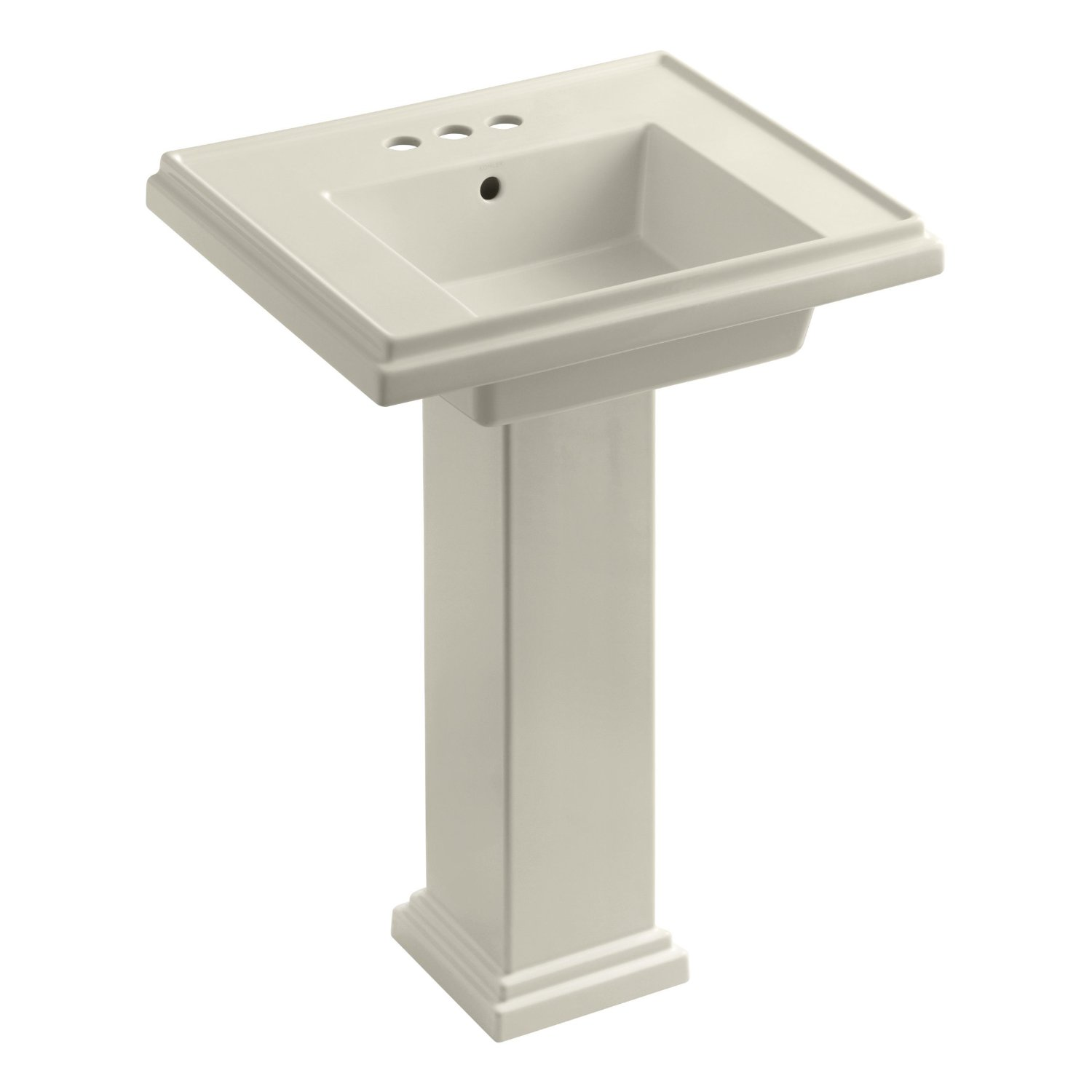 KOHLER K-2844-4-0 Tresham 24-inch Pedestal Bathroom Sink with 4-inch ...