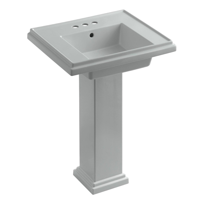 KOHLER K-2844-4-96 Tresham 24-inch Pedestal Bathroom Sink ...