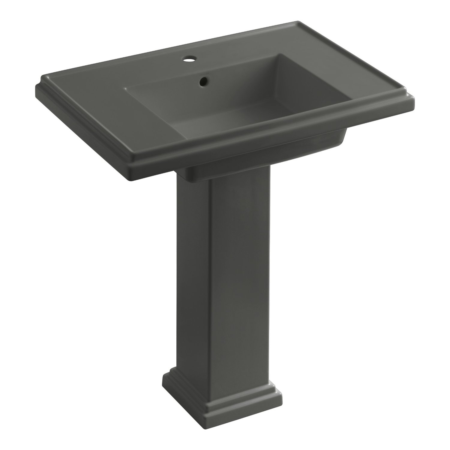 Single Hole Pedestal Sink : ... Sink with Single-Hole Faucet Drilling, White - Pedestal Sinks - Amazon