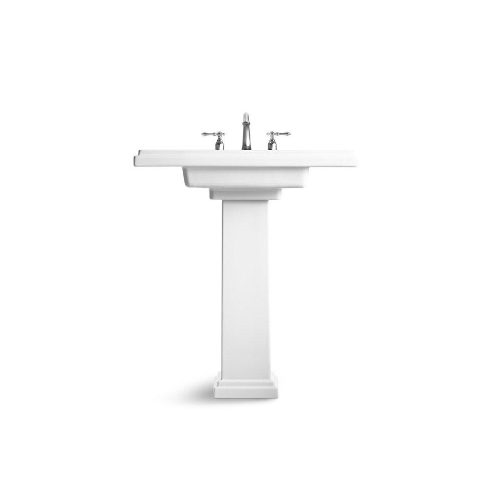 Kohler Tresham Pedestal Sink.Kohler K 2845 8 96 Tresham 30 Inch Pedestal Bathroom Sink With 8 Inch Widespread Faucet Drilling Biscuit