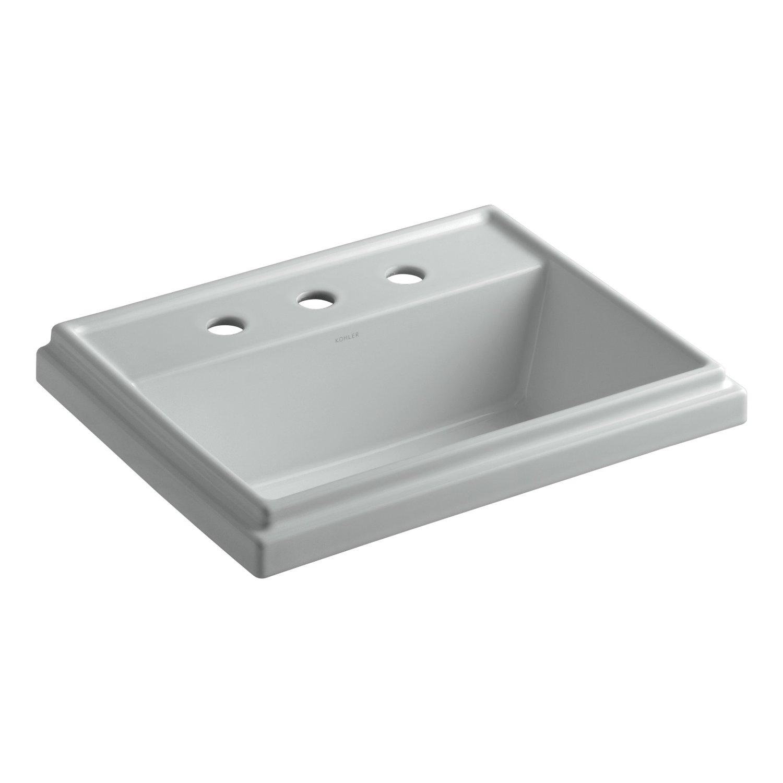 Kohler K 2991 8 0 Tresham Rectangle Self Rimming Bathroom