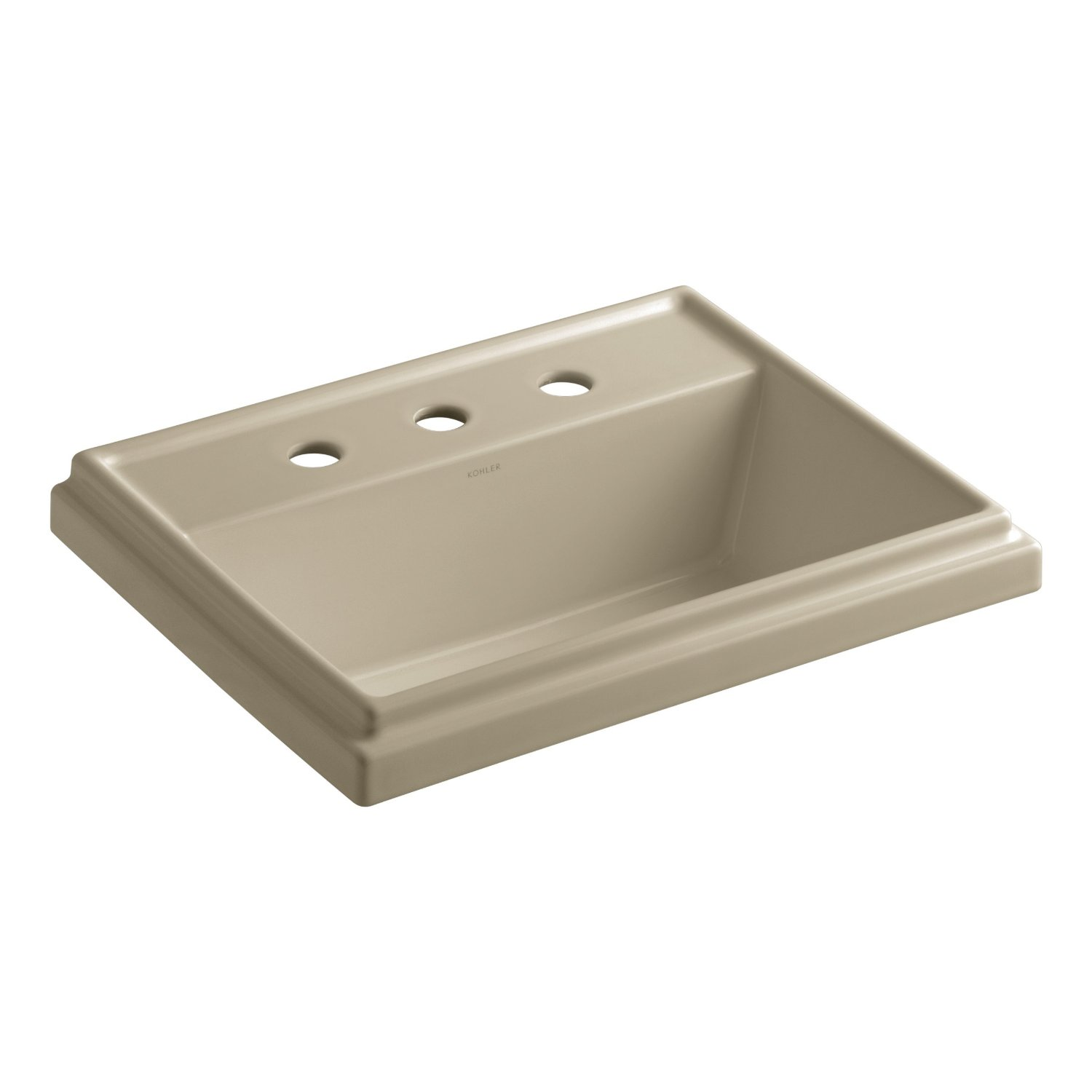 KOHLER K-2991-8-0 Tresham Rectangle Self-Rimming Bathroom Sink ...