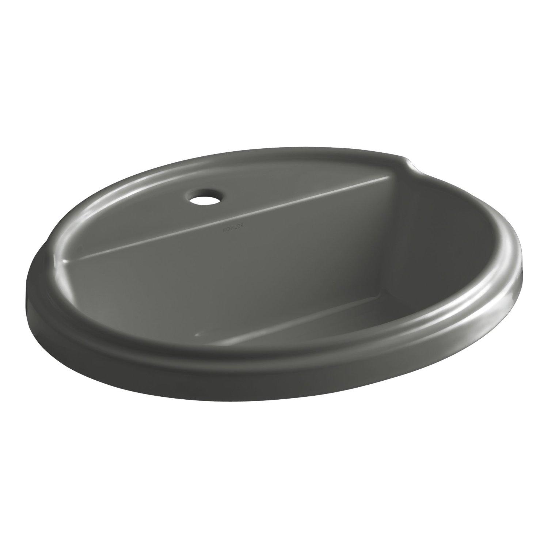 kohler k 2992 1 7 tresham oval shaped self rimming bathroom sink with single hole faucet. Black Bedroom Furniture Sets. Home Design Ideas