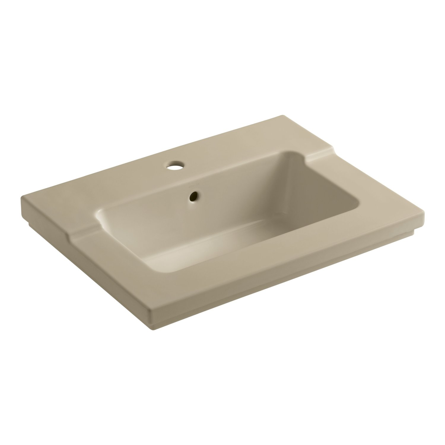 ... Bathroom Sink with Single-Hole Faucet Drilling, White - Vanity Sinks