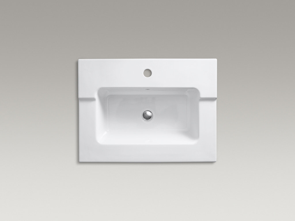 KOHLER K-2979-1-0 Tresham One-Piece Surface and Integrated Bathroom ...