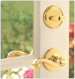 Entry lever and deadbolt