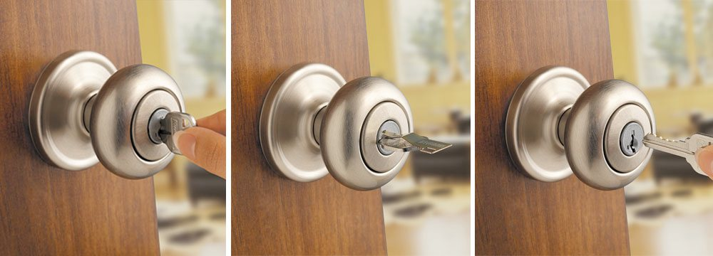 Kwikset 991 Juno Entry Knob And Single Cylinder Deadbolt