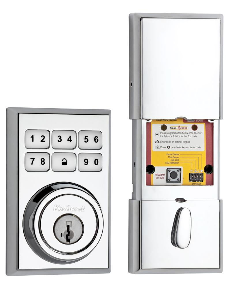 Kwikset 909 Contemporary Smartcode Electronic Deadbolt Featuring