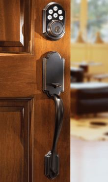Kwikset SmartCode single-cylinder deadbolt featuring SmartKey
