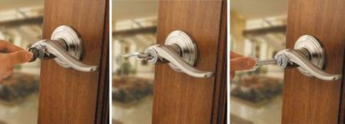 Kwikset Tustin lever with SmartKey re-keying steps