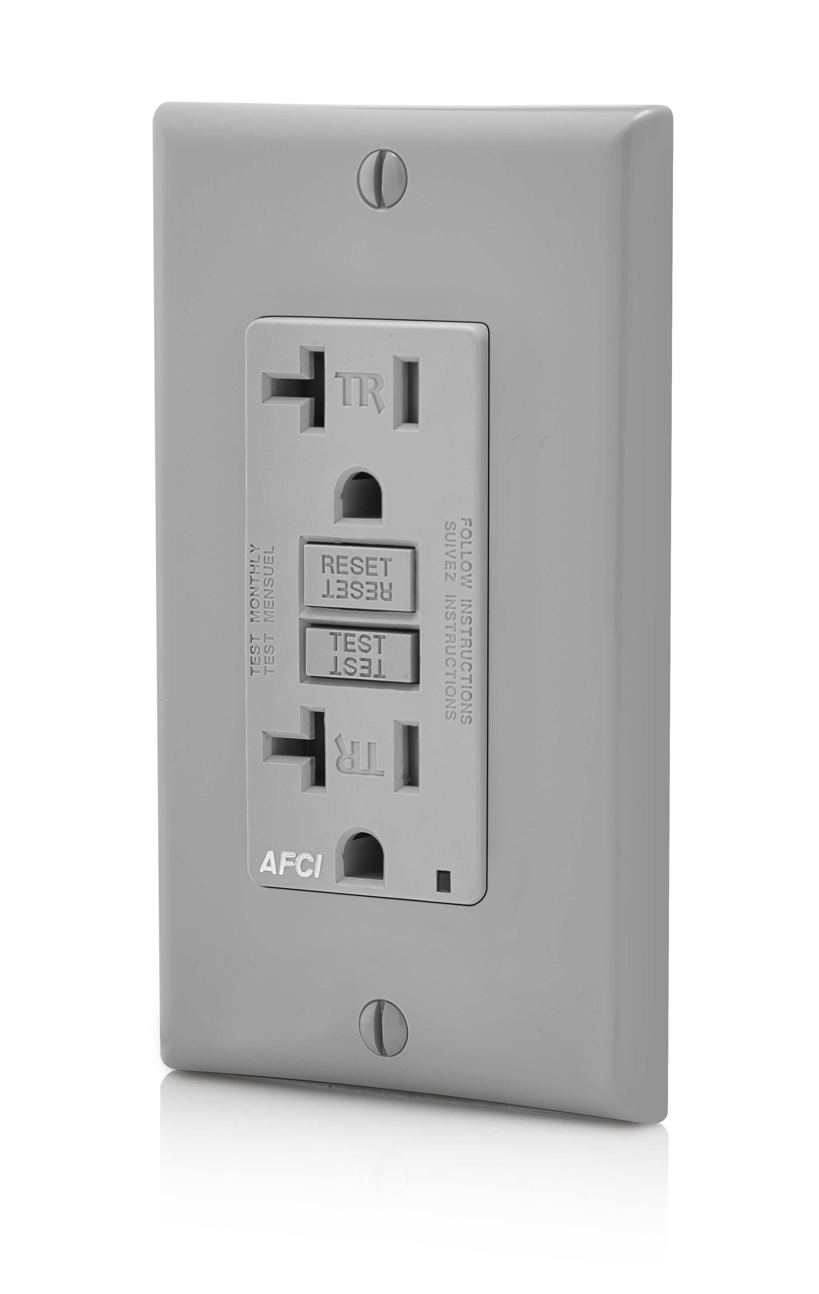 Leviton Aftr2 Gy Smartlockpro Outlet Branch Circuit Arc