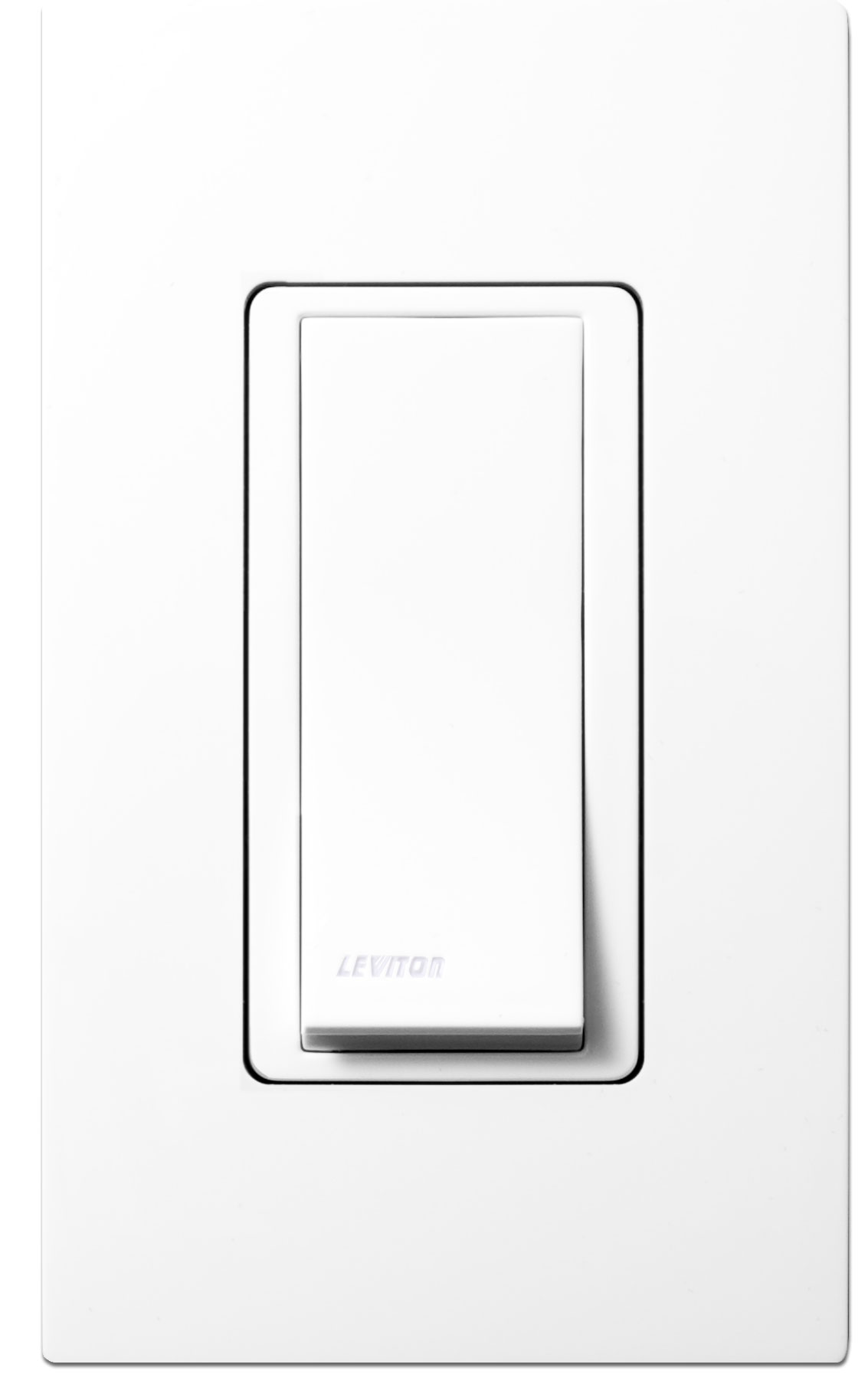 Leviton WSS0S-P0W Wireless Self-Powered Remote Switch, White - Wall ...