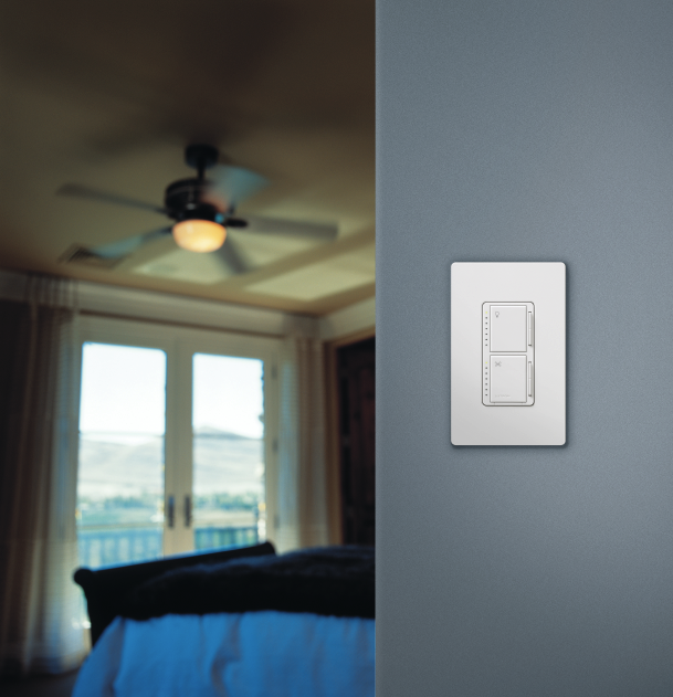 Lutron ma lfqhw wh maestro fan control and dimmer kit white wall ma lfqhw maestro fan control and dimmer kit mozeypictures Images