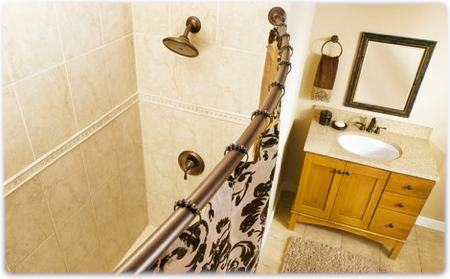 Incroyable Curved Shower Rod