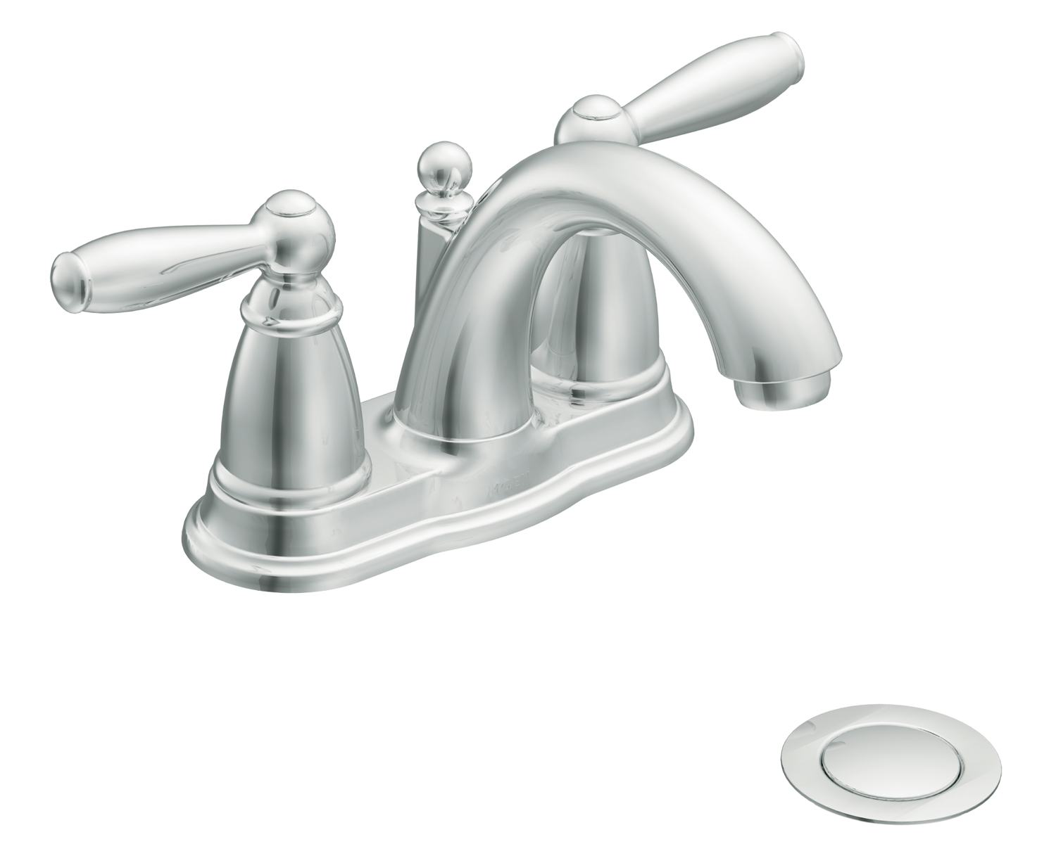 Moen 6610 brantford two handle low arc centerset bathroom faucet with drain assembly chrome Amazon bathroom faucets moen