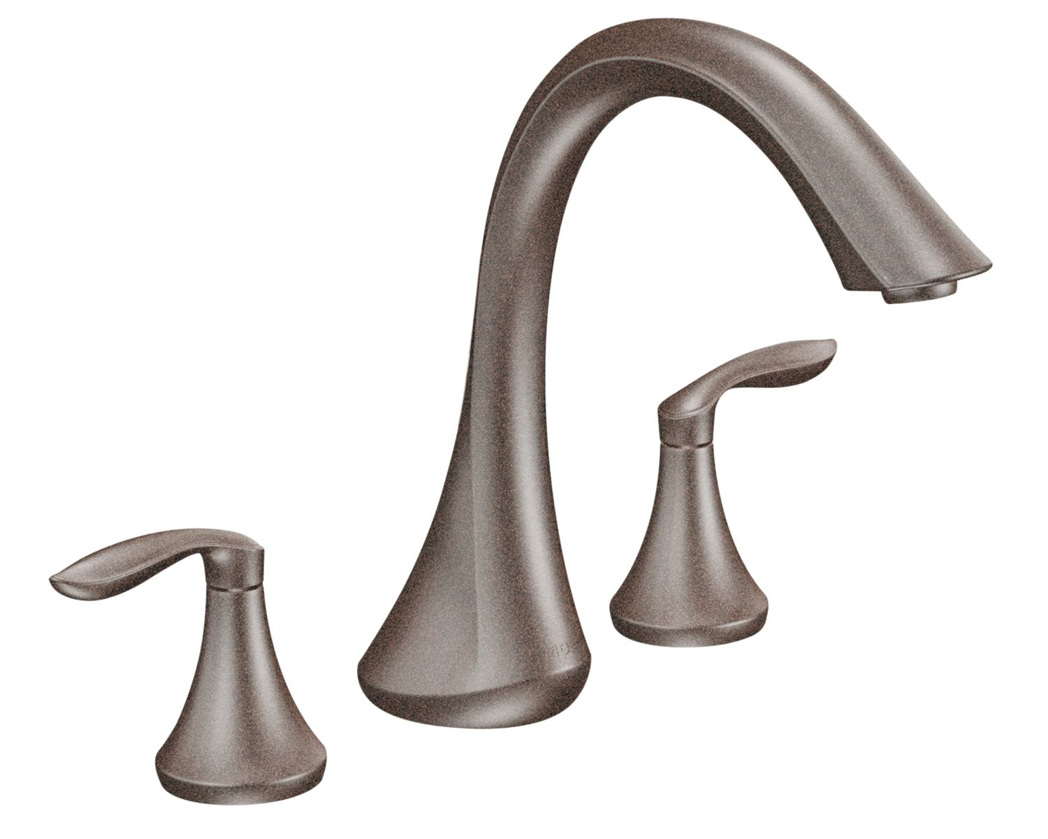 Moen T943orb Eva Two Handle High Arc Roman Tub Faucet Without Valve Oil Rubbed Bronze Bathtub