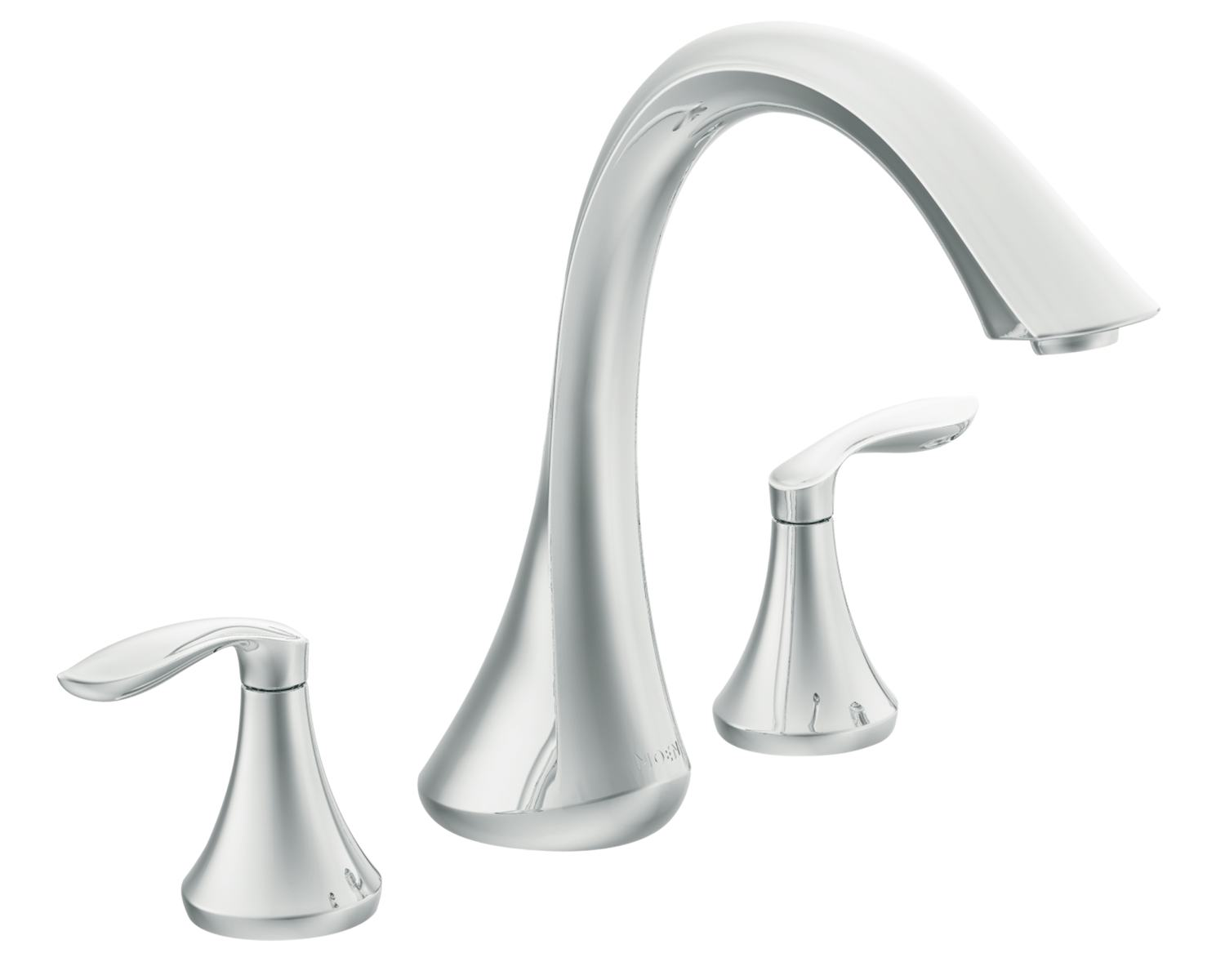 Moen T943 Eva Two-Handle High Arc Roman Tub Faucet without Valve ...