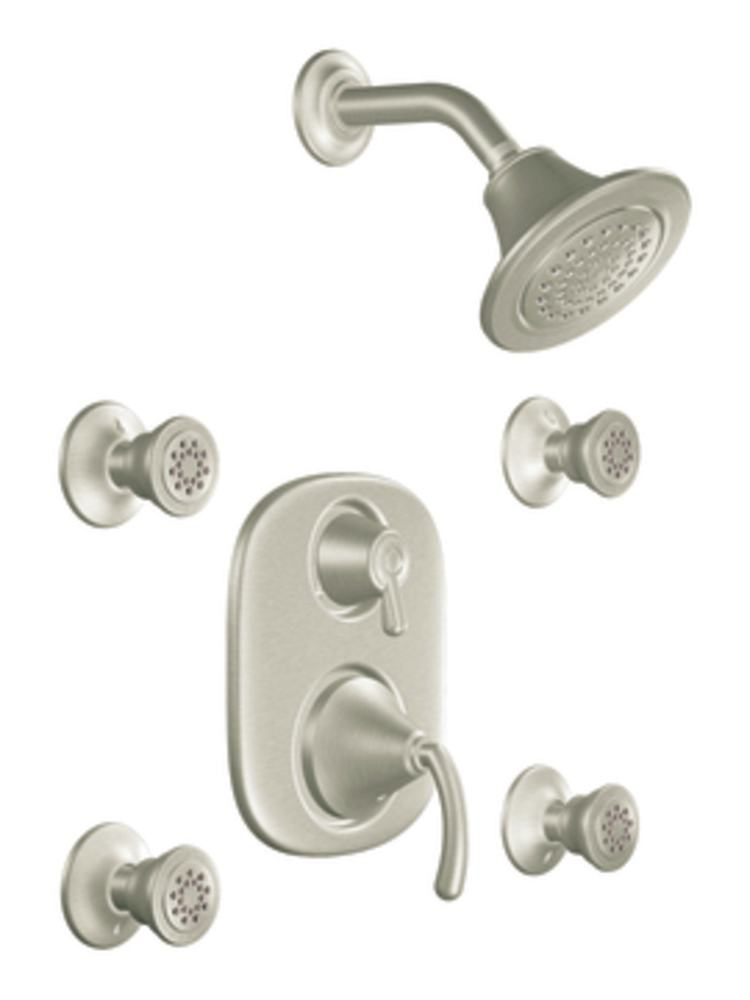 Moen Ts283bn Icon Moentrol Vertical Spa Trim Kit Without Valve Brushed Nickel Shower