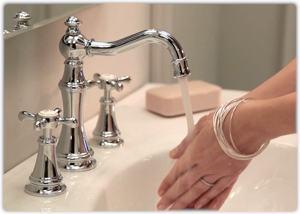 Amazon.com: Moen TS42108 Weymouth Two-Handle High Arc Bathroom ...