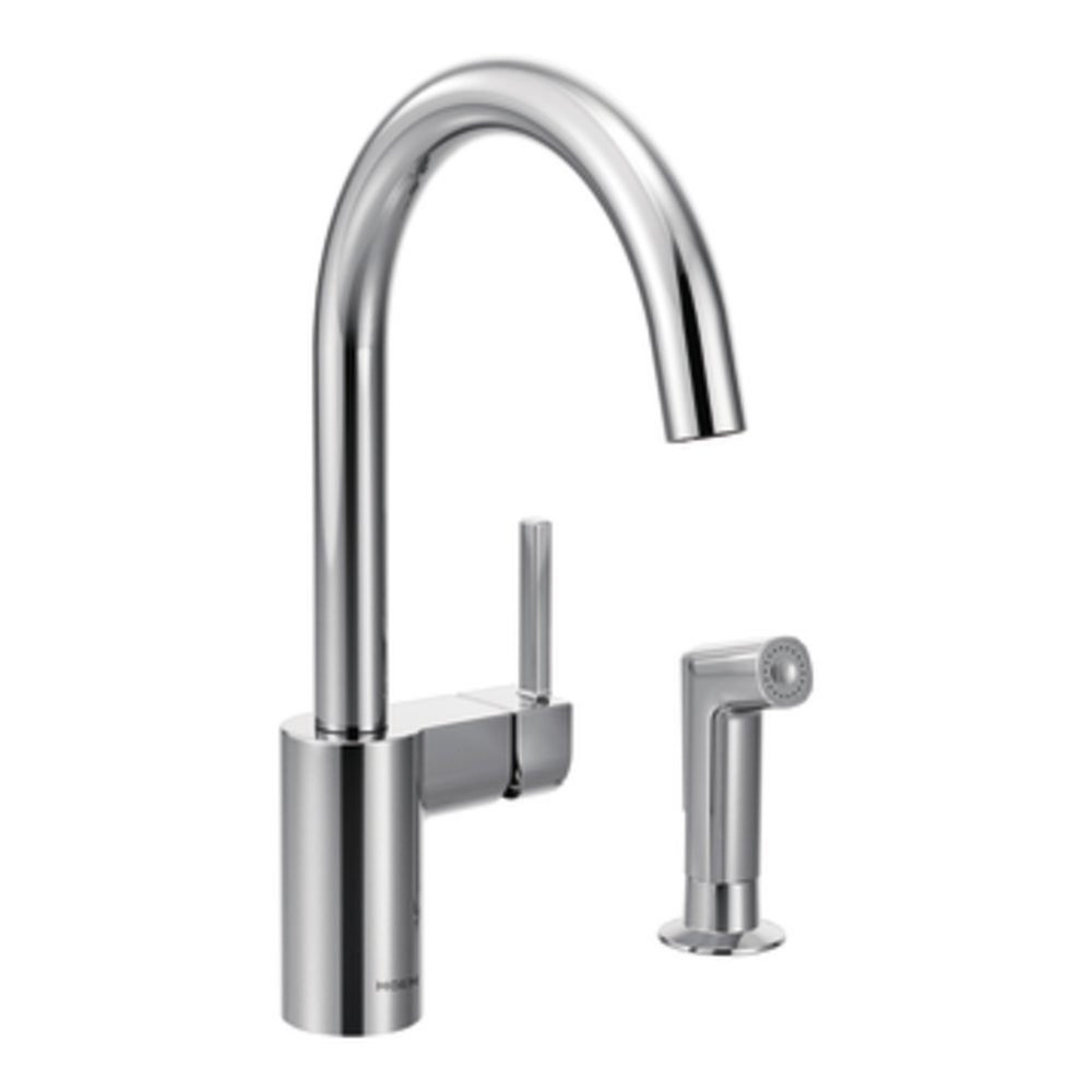 Moen 7165 Align One-Handle High Arc Kitchen Faucet, Chrome - Touch ...