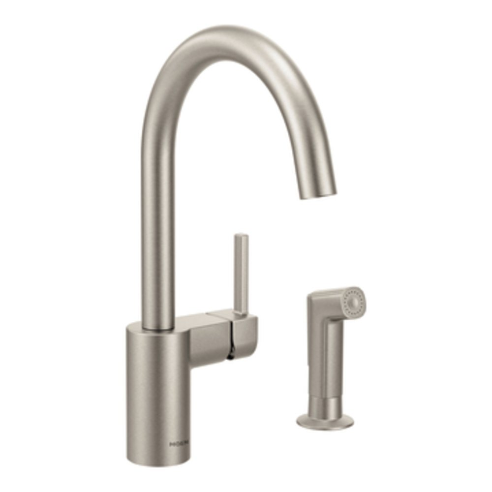 B00BSXNROY moen kitchen faucet The Align kitchen faucet in Spot Resist Stainless view larger