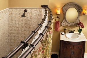 60in Shower Curtain Rod Adjustable Double Curved Stainless Steel