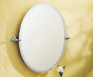 Amazoncom Moen Dn6892bn Sage Bathroom Oval Tilting Mirror Brushed