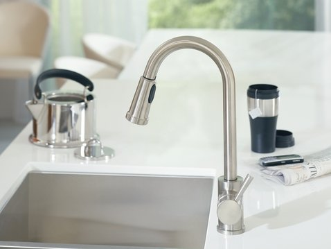 7175 Level One Handle High Arc Pullout Kitchen Faucet