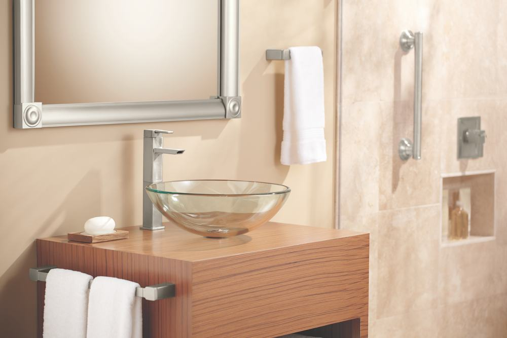 With its ultra-contemporary styling, the Moen 90 Degree ...