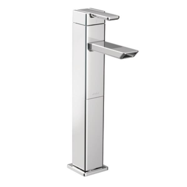 The 90 Degree One Handle High Arc Bathroom Faucet In Chrome ...
