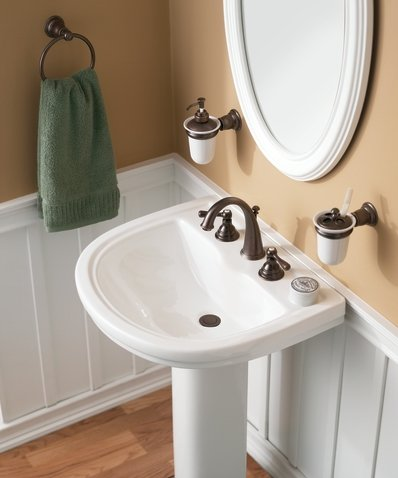 Moen T6125AN Kingsley Two-Handle High Arc Bathroom Faucet without ...