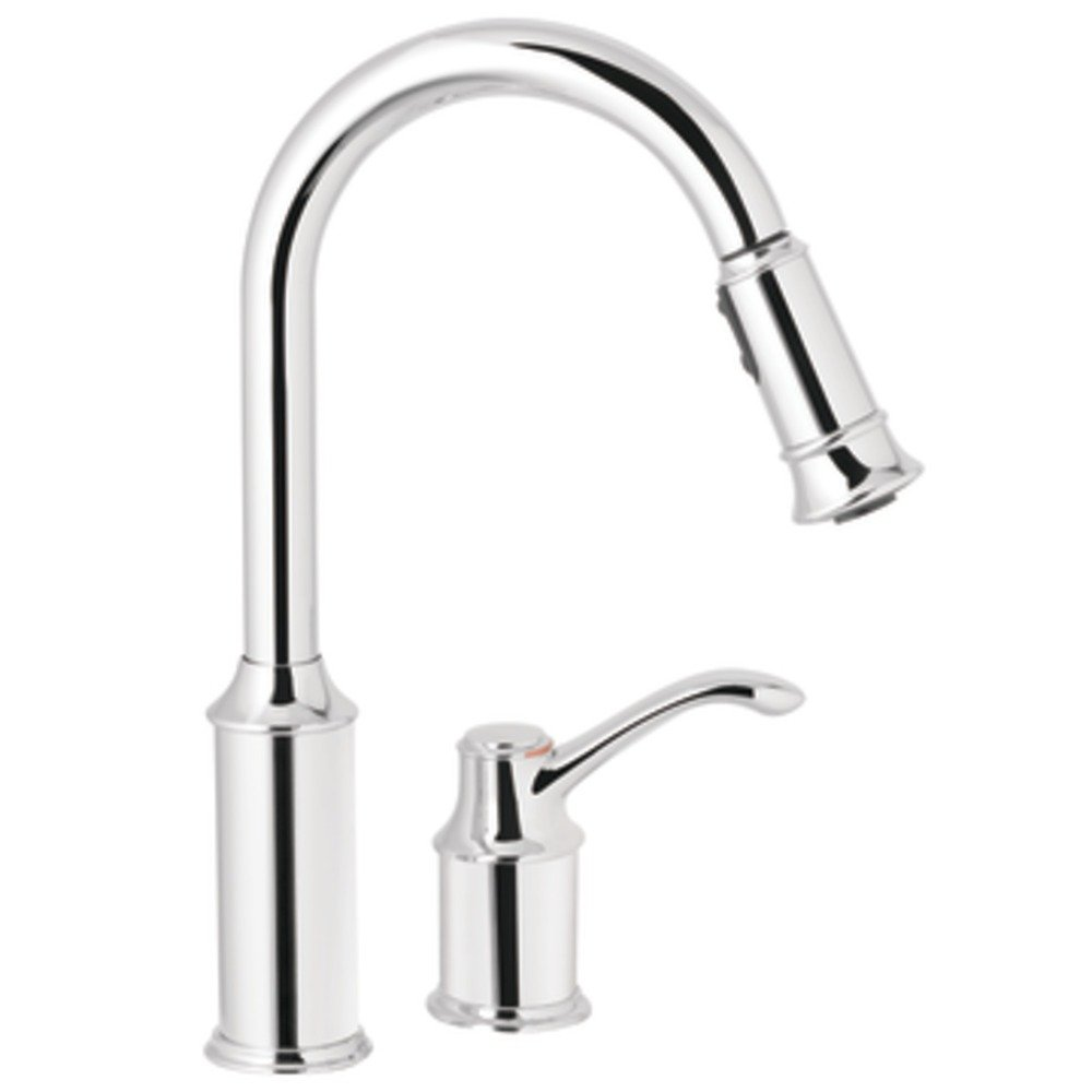 Moen 7590c aberdeen one handle high arc pulldown kitchen faucet chrome touch on kitchen sink Amazon bathroom faucets moen